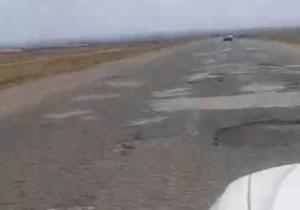 فیلمی از وضعیت جاده ناهموار در «اخترآباد»