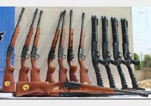 کشف تعداد زیادی سلاح شکاری و جنگی در شهرستان چاراویماق