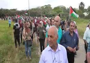 راهپیمایی فلسطینیها در سالگرد کشتار طنطوره + فیلم