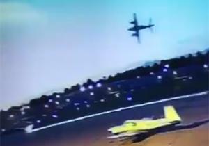سقوط و انفجار هواپیما، لحظاتی پس از بلند شدن + فیلم