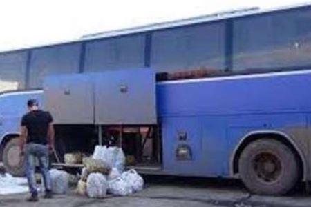 قاچاق ۸۰۰ میلیون ریالی با اتوبوس مسافربری