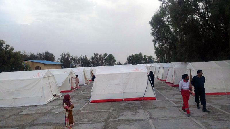 شمار اسکان یافتگان سیلاب سیستان به ۸۳۱ نفر رسید