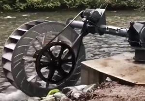 تولید برق با قدرت جریان آب + فیلم
