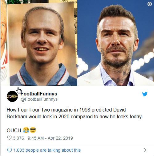 چهره وحشتناک دیوید بکهام در سال ۲۰۲۰ +تصاویر