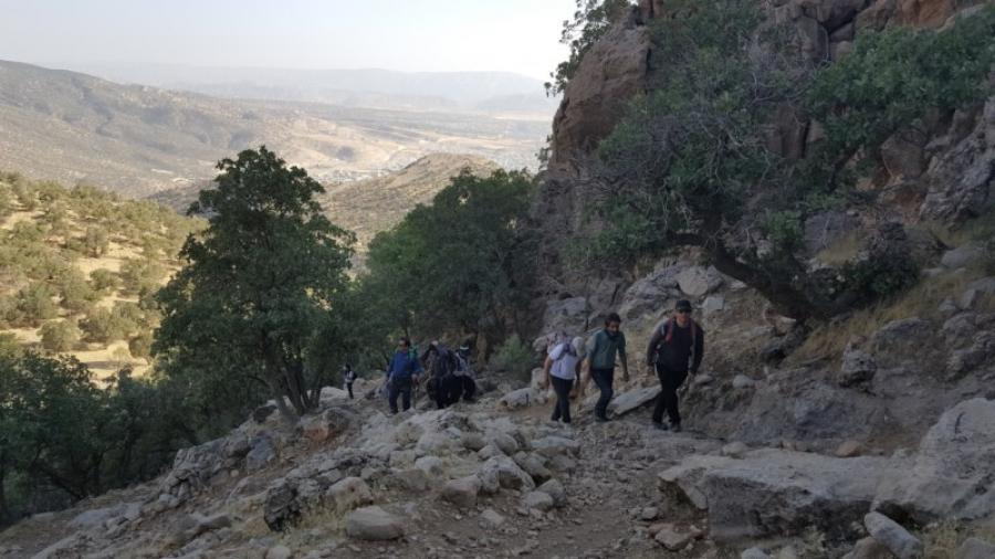 صعود مشترک کوهنوردان استانهای تهران و همدان به قله کان صیفی