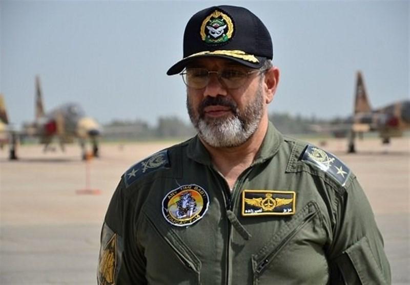 بازدید امیر سرتیپ نصیرزاده از پایگاههای ششم، هشتم و نهم شکاری نیروی هوایی