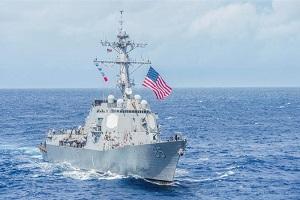 جولان ناوشکن آمریکایی در دریایی چین جنوبی