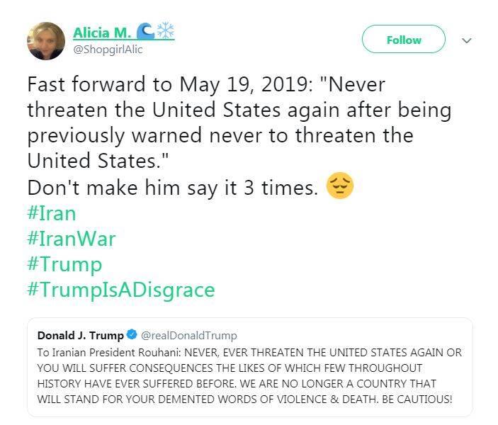 ماجرای توئیت ترامپ درباره ایران چه بود؟