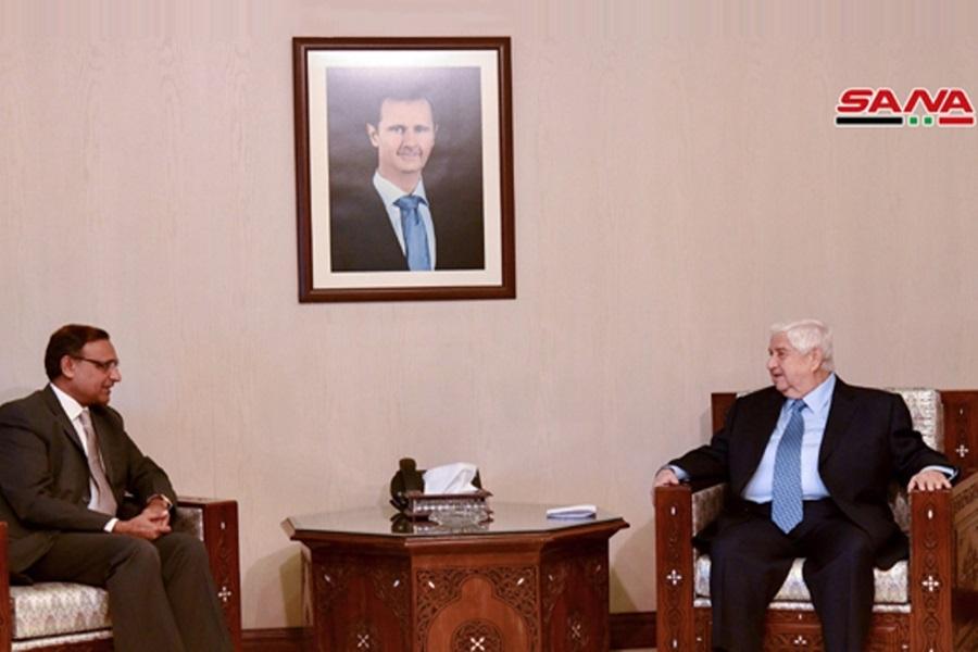 گفتگوی وزیر خارجه سوریه و معاون وزیر خارجه هند درباره مشارکت در بازسازی سوریه