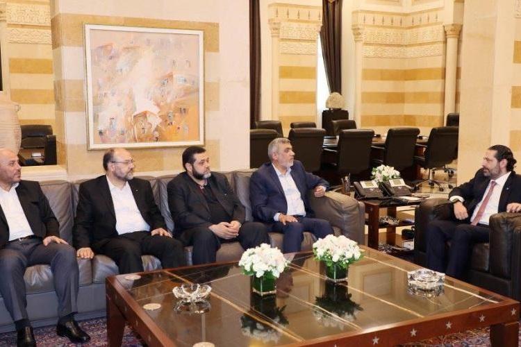 گفتگوی نخستوزیر لبنان و هیات حماس