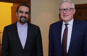 مذاکرات  ریابکوف و سنایی پیرامون تحولات منطقه، برجام