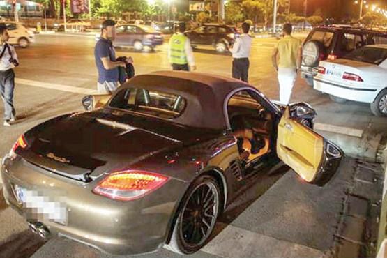 توقیف ۱۵۰ خودرو لاکچری به دلیل دور دور کردن در خیابانهای شمال تهران/ برخورد جدی پلیس با راهاندازان کارناوال خودروهای لوکس