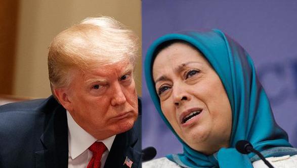 ریز و درشت پچپچهای مریم رجوی زیر گوش ترامپ/ سرکرده منافقین اینگونه مغز آقای رئیسجمهور را شستشو داد