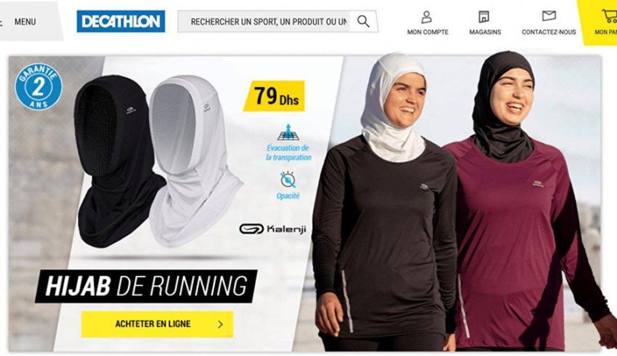 ماجرای جنجالی تبلیغ حجاب توسط یک برند ورزشی در فرانسه + عکس