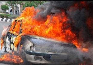 پژو پارس در آتش سوخت + فیلم