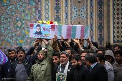 تشییع شهید مدافع حرم مجید قربانخانی در مشهد