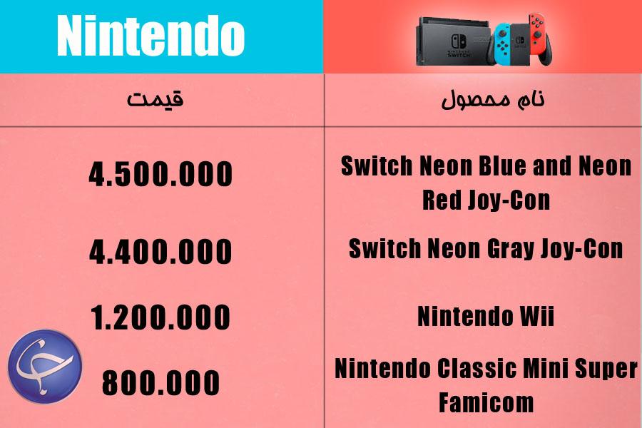 آخرین قیمت انواع کنسول بازی و لوازم جانبی آن در بازار (تاریخ ۵ اردیبهشت) +جدول