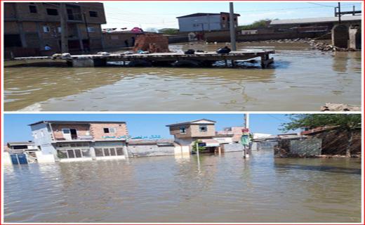 آخرین اخبار از مناطق سیل زده شنبه هفتم اردیبهشت/ فرماندار آق قلا: ۳۰ درصد شهر دچار آبگرفتگی شده/ شدت سیلاب گلستان مانند گذشته نیست + تصاویر