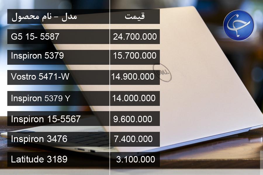 آخرین قیمت انواع لپ تاپ در بازار (تاریخ ۸ اردیبهشت) +جدول