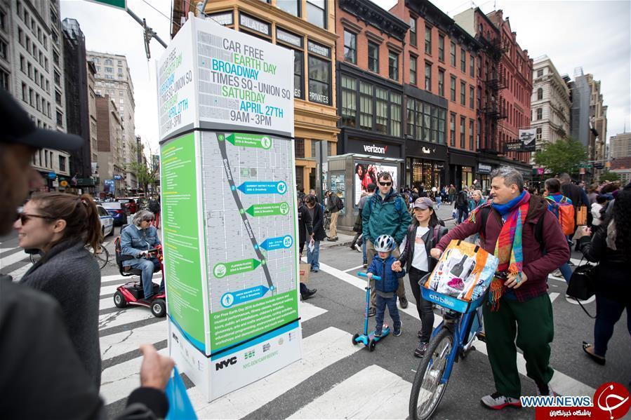 برگزاری روز «زمین بدون خودرو» در نیویورک+تصاویر