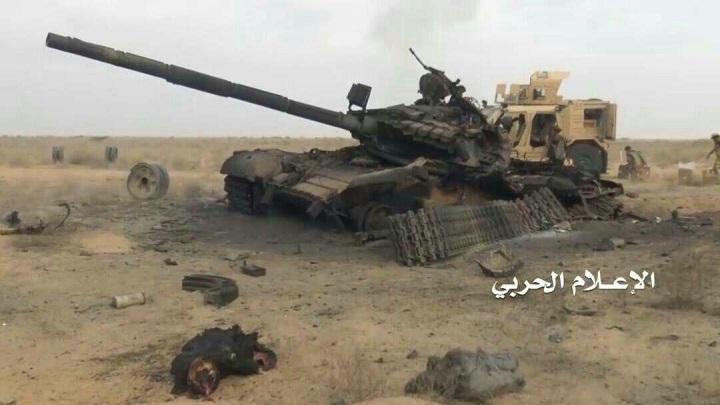 باشگاه خبرنگاران -نابودی تانک سعودی در حمله موشک هدایتشونده یمنیها + عکس