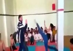 کتک زدن بچهها به اسم آموزش کاراته + فیلم