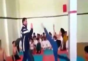 کتک زدن بچهها به اسم آموزش کاراته + فیلمآموزش وحشیانه کاراته به کودکان + فیلم