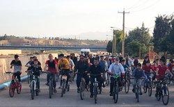 همایش دوچرخه سواری عمومی در بخش_صالح_آباد برگزار شد