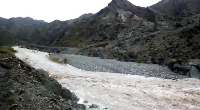 خسارت دیدن منازل روستاهای نیکشهر بر اثر بارندگی