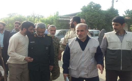 بازدید رئیس سازمان بسیج مستضعفین کشور از منطقه سیلزده سیمرغ