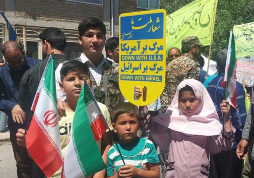 حضور پر رنگ مردم سیل زده در راهپیمایی روز قدس در گلستان / تصاویر