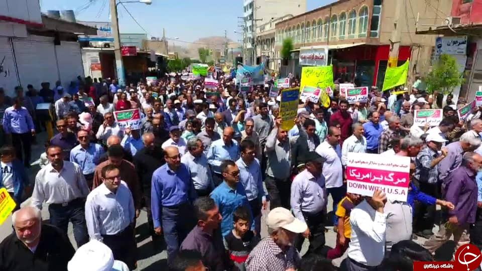 خروش مردم فارس در روز جهانی قدس/مشتهای گره کرده، چون اشعههای خورشید قلب دشمن را میسوزاند + تصاویر