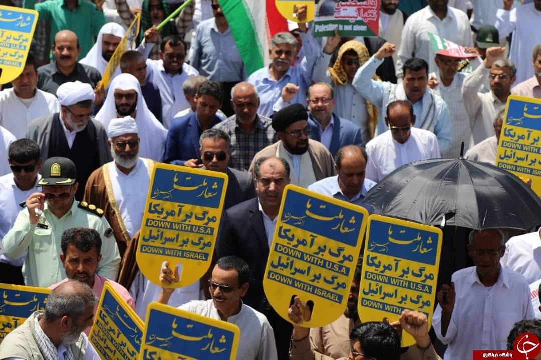 تصاویری از حضور مردم استان بوشهر در راهپیمایی روز جهانی قدس