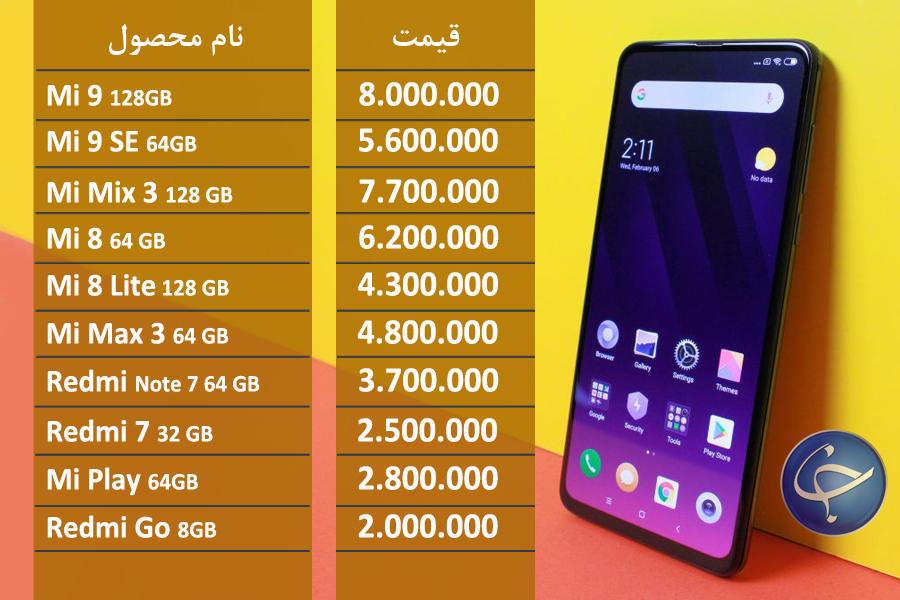 آخرین قیمت تلفن همراه در بازار (بروزرسانی ۱۱ خرداد) +جدول