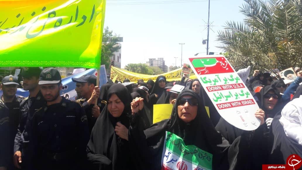 تصاویر/راهپیمایی روز قدس در استان بوشهر