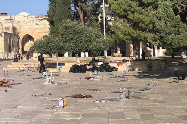 باشگاه خبرنگاران -تعرض نظامیان صهیونیست به نمازگزاران فلسطینی در مسجدالاقصی