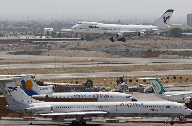 تعطیلی ۵ ساعته فرودگاههای استان تهران در روز ۱۴ خرداد