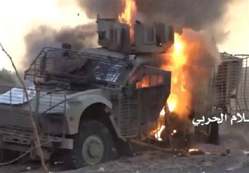 انهدام خودرو حامل نظامیان سعودی در نجران