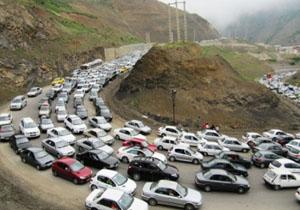 ترافیک نیمه سنگین در جادههای چالوس و هراز