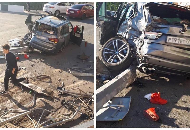 حادثهای که در چند ثانیه خودروی «ب ام و» را تبدیل به یک آهن پاره کرد+فیلم
