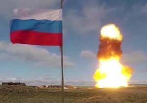 آزمایش موشک جدید سامانه دفاع ضدهوایی نیروهای هوافضای روسیه از خاک قزاقستان + فیلم