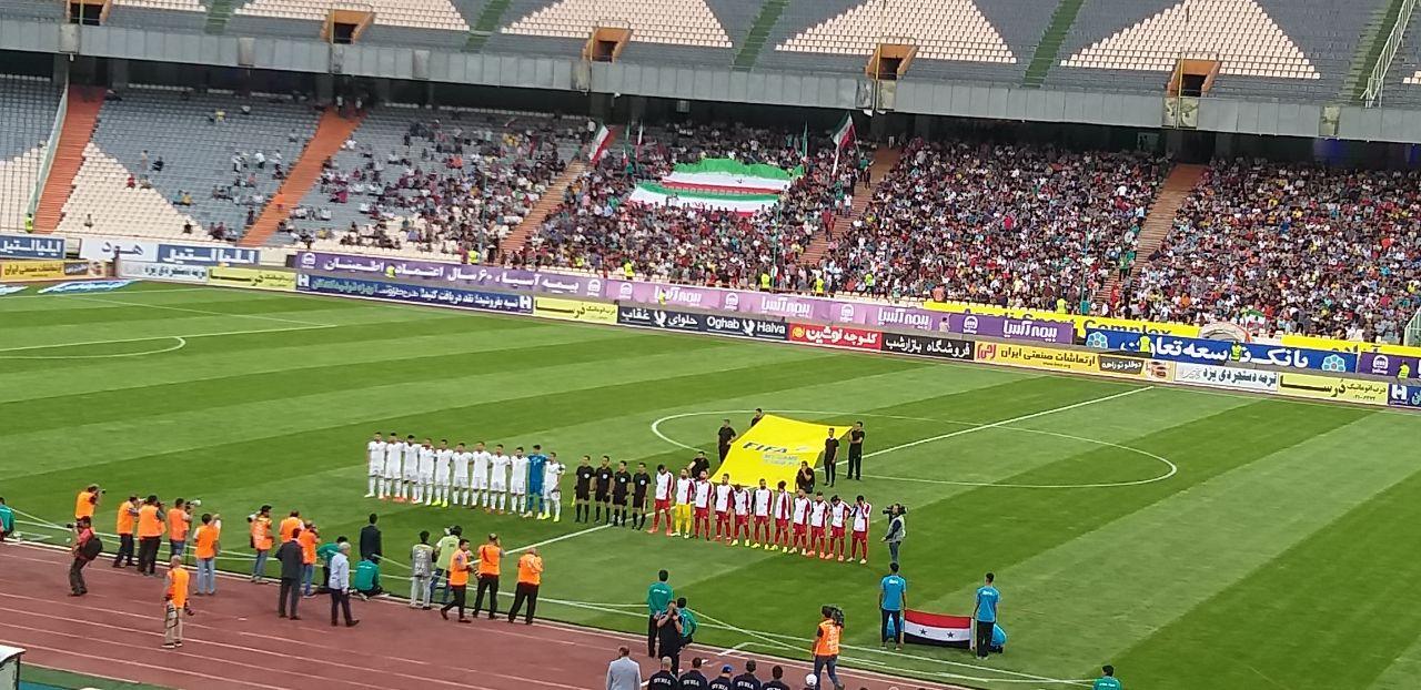 تیم ملی فوتبال ایران صفر - سوریه صفر