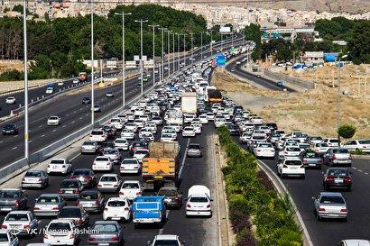 ترافیک سنگین بازگشت مسافران عیدفطر