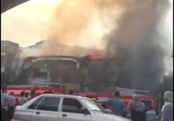 آتشسوزی مهیب ساختمان قدیمی قلمچی در بابل + فیلم