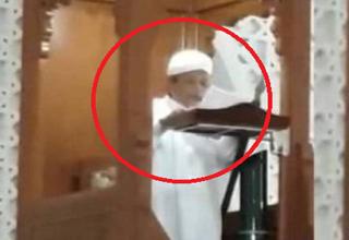 لحظه مرگ امام جماعت حین سخنرانی روی منبر + فیلم
