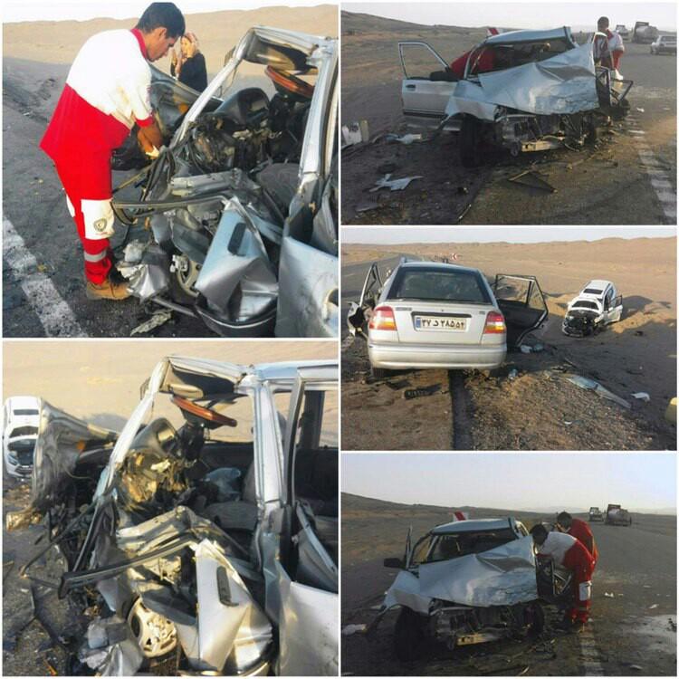 ۱۱ مجروح در دو سانحه رانندگی محورزاهدان-نصرت آباد + تصاویر