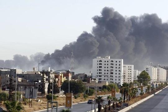 حمله هوایی نیروهای وابسته به خلیفه حفتر به جنوب طرابلس