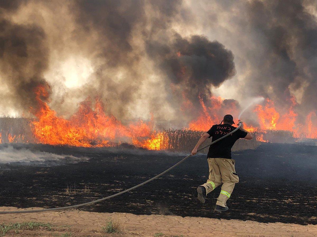 وقوع آتشسوزی گسترده در فلسطین اشغالی