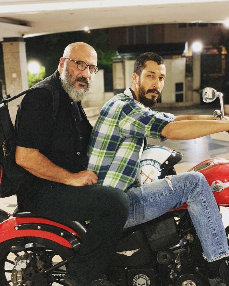 موتور سواری بهتاش فریبا با امیر جعفری + عکس