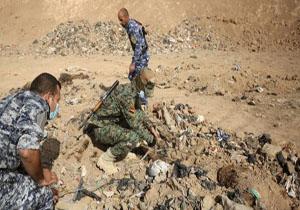 کشف گور جمعی حاوی پیکرهای نظامیان سوری در حومه رقه